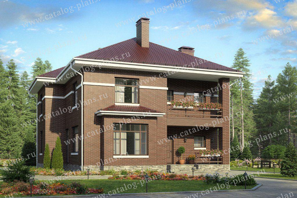 Проект двухэтажного кирпичного дома - 40-54