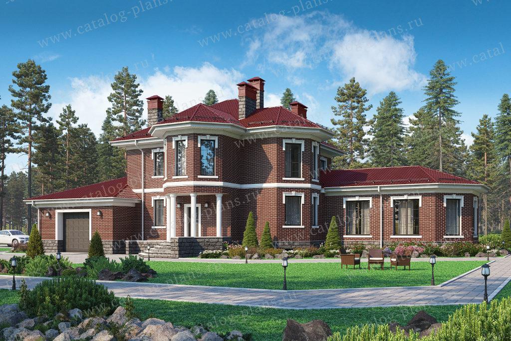 Проект трёхэтажного кирпичного дома - 40-75CDL
